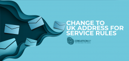 Change to UK address for service rules